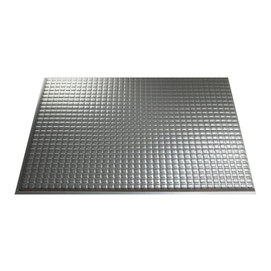 Fasade 18.5-in x 24.5-in Brushed Aluminum Thermoplastic Multipurpose Backsplash