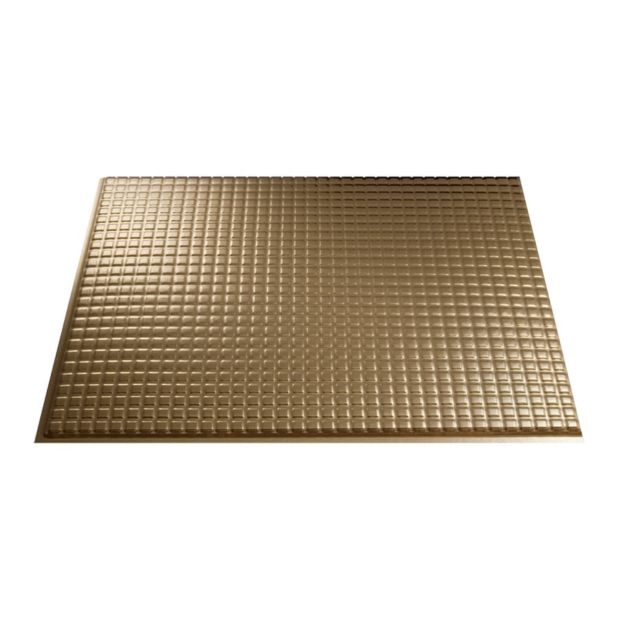 in polished copper thermoplastic multipurpose backsplash at