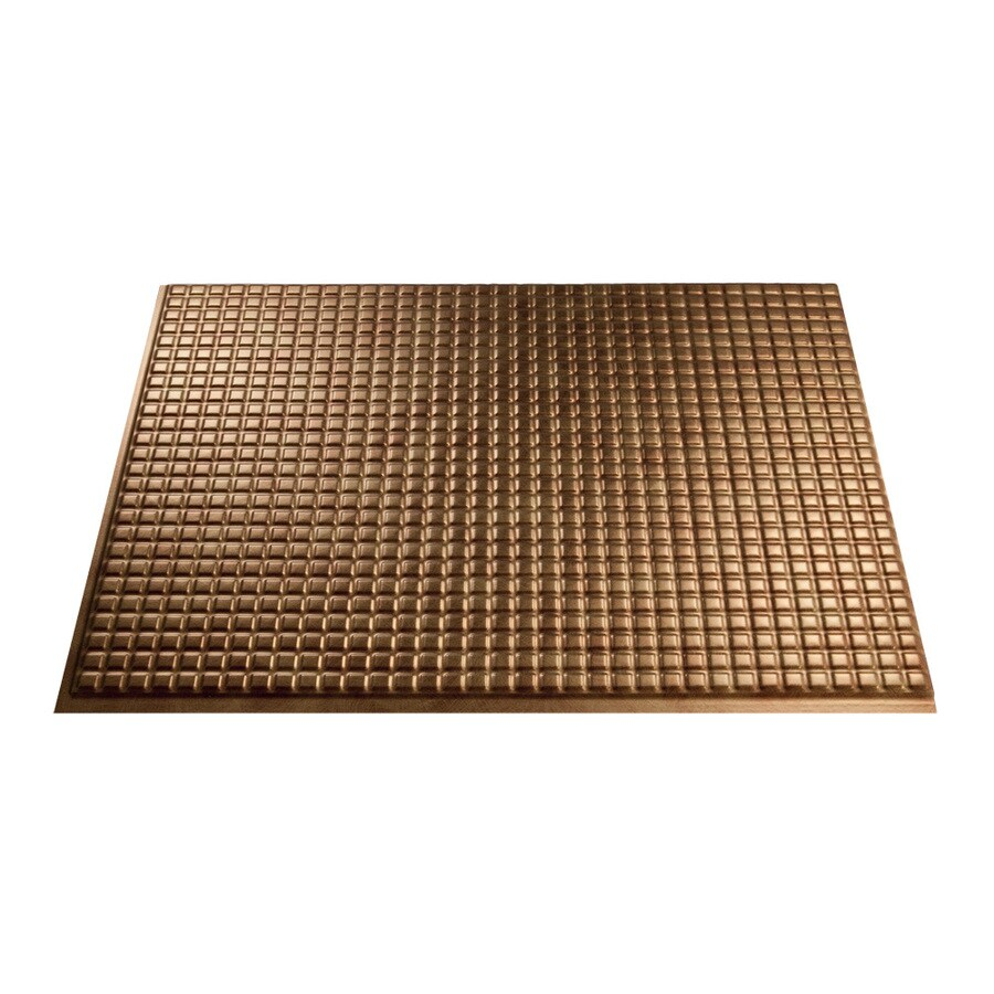 fasade 18 5 in x 24 5 in antique bronze thermoplastic multipurpose