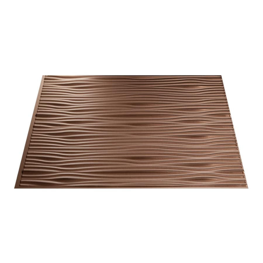18 5 in x 24 5 in argent copper thermoplastic multipurpose backsplash
