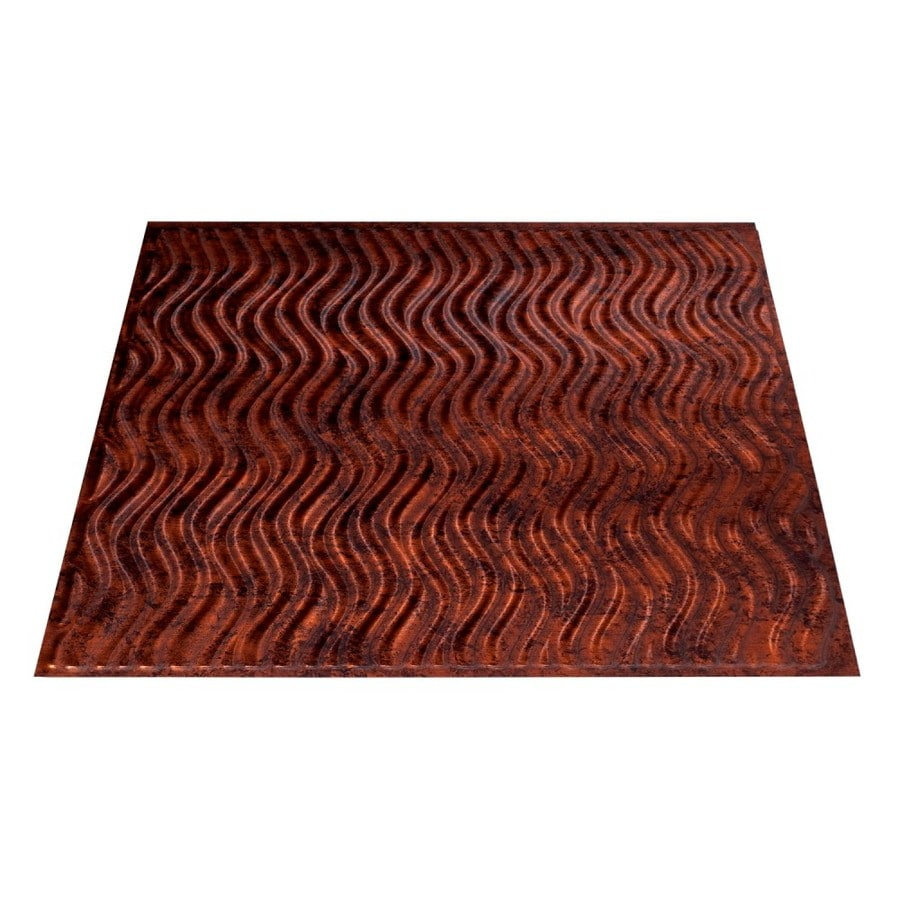 Fasade Moonstone Copper Faux Tin Surface-Mount Ceiling Tiles (Common: 24-in x 24-in; Actual: 23.25-in x 23.25-in)