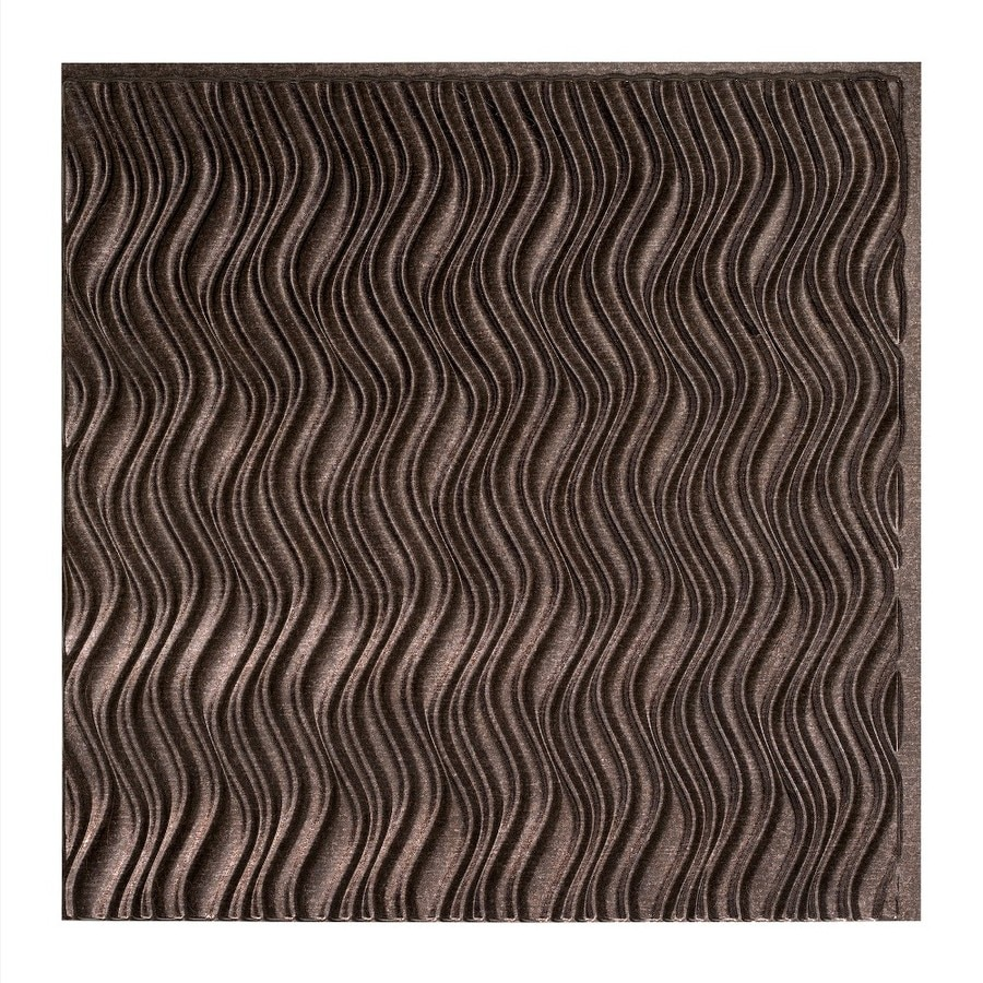 Fasade Smoked Pewter Faux Tin Surface-Mount Ceiling Tiles (Common: 24-in x 24-in; Actual: 23.25-in x 23.25-in)