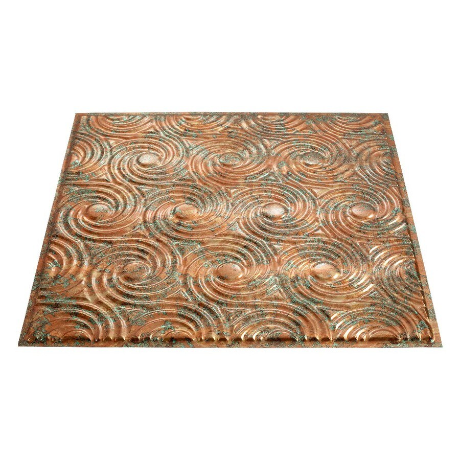 Fasade Copper Fantasy Faux Tin Surface-Mount Ceiling Tiles (Common: 24-in x 24-in; Actual: 23-in x 23-in)