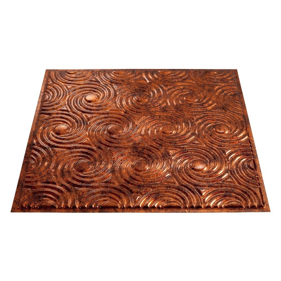 Fasade Moonstone Copper Faux Tin Surface-Mount Ceiling Tiles (Common: 24-in x 24-in; Actual: 23-in x 23-in)