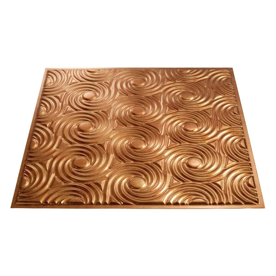 Fasade Antique Bronze Faux Tin Surface-Mount Ceiling Tiles (Common: 24-in x 24-in; Actual: 23-in x 23-in)