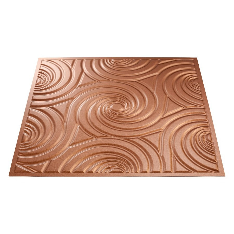 Copper tin ceiling tiles