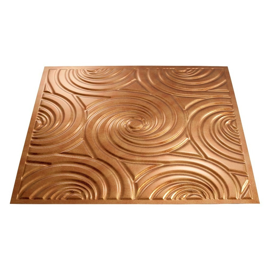 Faux bronze ceiling tiles
