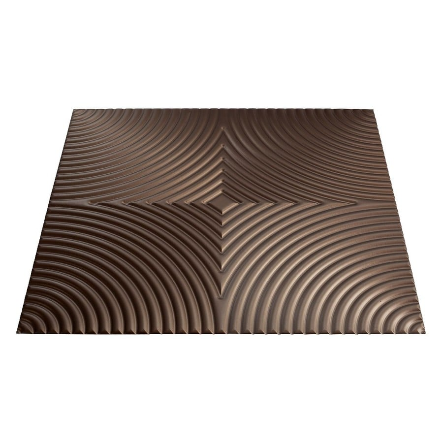 Fasade Argent Bronze Faux Tin Surface-Mount Ceiling Tiles (Common: 24-in x 24-in; Actual: 23-in x 23-in)