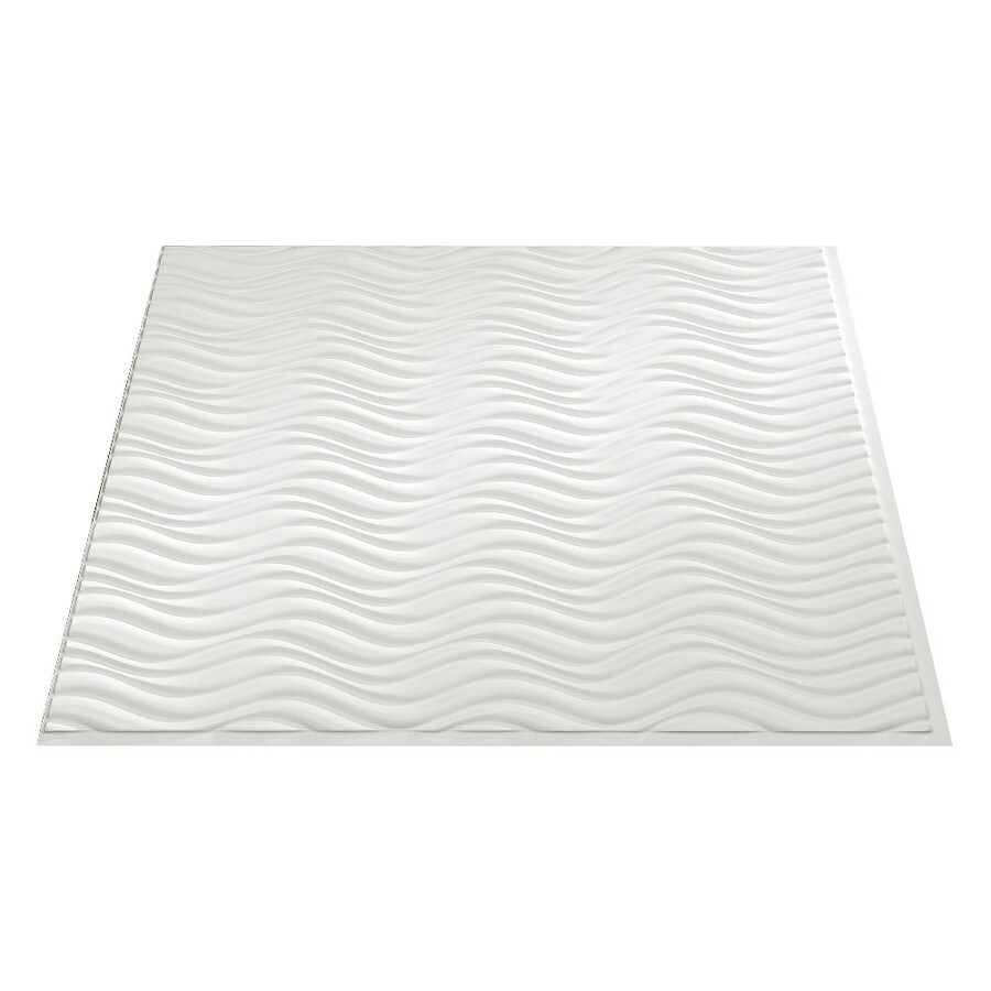 Fasade Matte White Faux Tin Surface-Mount Ceiling Tiles (Common: 24-in x 24-in; Actual: 23.25-in x 23.25-in)