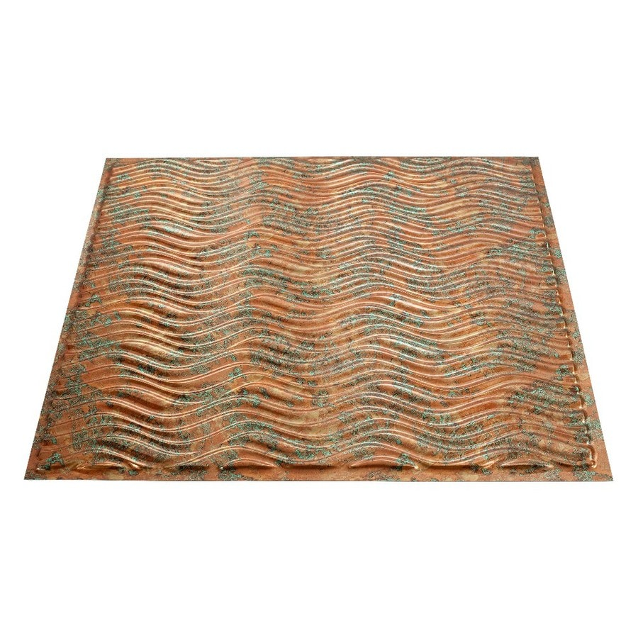 Fasade Copper Fantasy Faux Tin Surface-Mount Ceiling Tiles (Common: 24-in x 24-in; Actual: 23.25-in x 23.25-in)