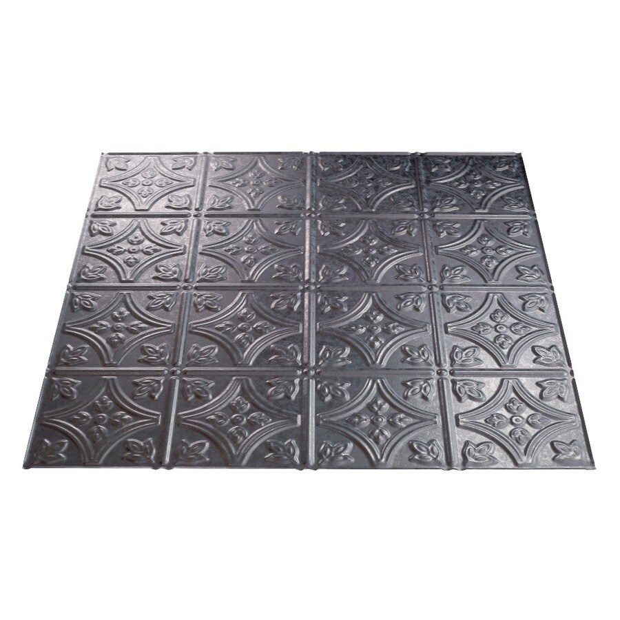 Fasade Galvanized Steel Faux Tin 15/16-in Drop Ceiling Tiles (Common: 24-in x 24-in; Actual: 23.75-in x 23.75-in)