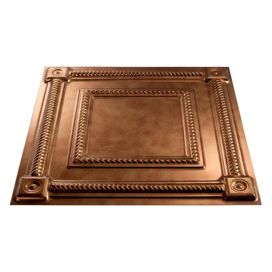 Fasade Antique Bronze Faux Tin 15/16-in Drop Ceiling Tiles (Common: 24-in x 24-in; Actual: 23.75-in x 23.75-in)