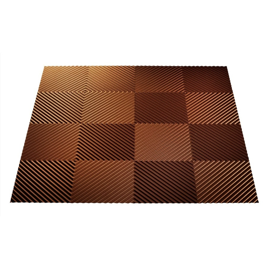 Shop Fasade Oil-Rubbed Bronze Faux Tin 15/16-in Drop Ceiling Tiles (Common: 24-in x 24-in ...