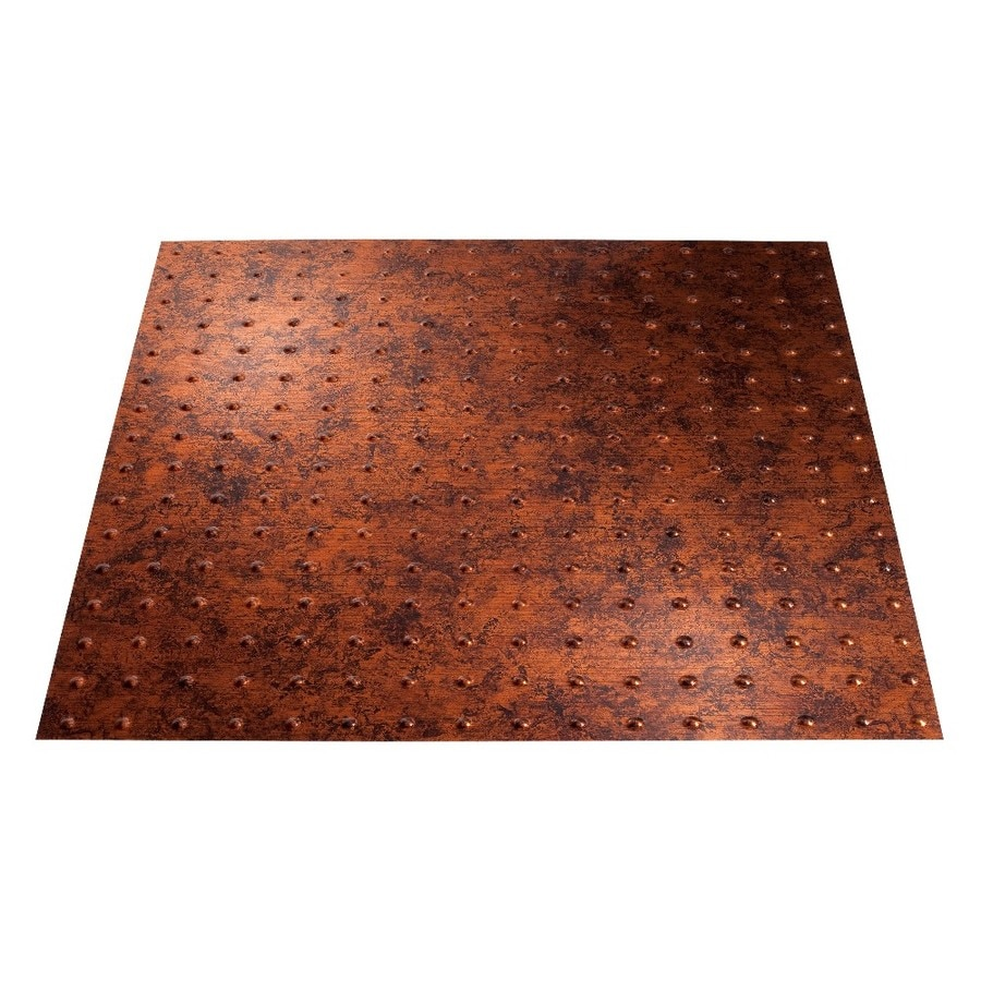 Fasade Moonstone Copper Faux Tin 15/16-in Drop Ceiling Tiles (Common: 24-in x 24-in; Actual: 23.75-in x 23.75-in)