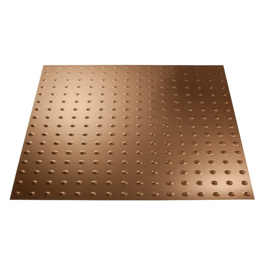 Shop Fasade Polished Copper Faux Tin 15 16 In Drop Ceiling
