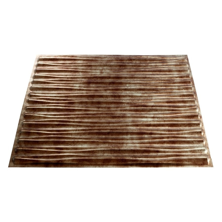 Shop Fasade Bermuda Bronze Faux Tin 15/16-in Drop Ceiling Tile (Common: 24-in x 24-in; Actual ...