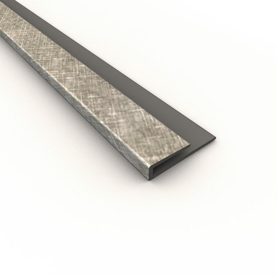 Fasade 0.75-in x 18-in Cross Hatch Silver Thermoplastic Backsplash