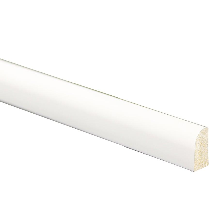 9/16-in x 1/4-in x 8-ft White Polystyrene Shoe Moulding