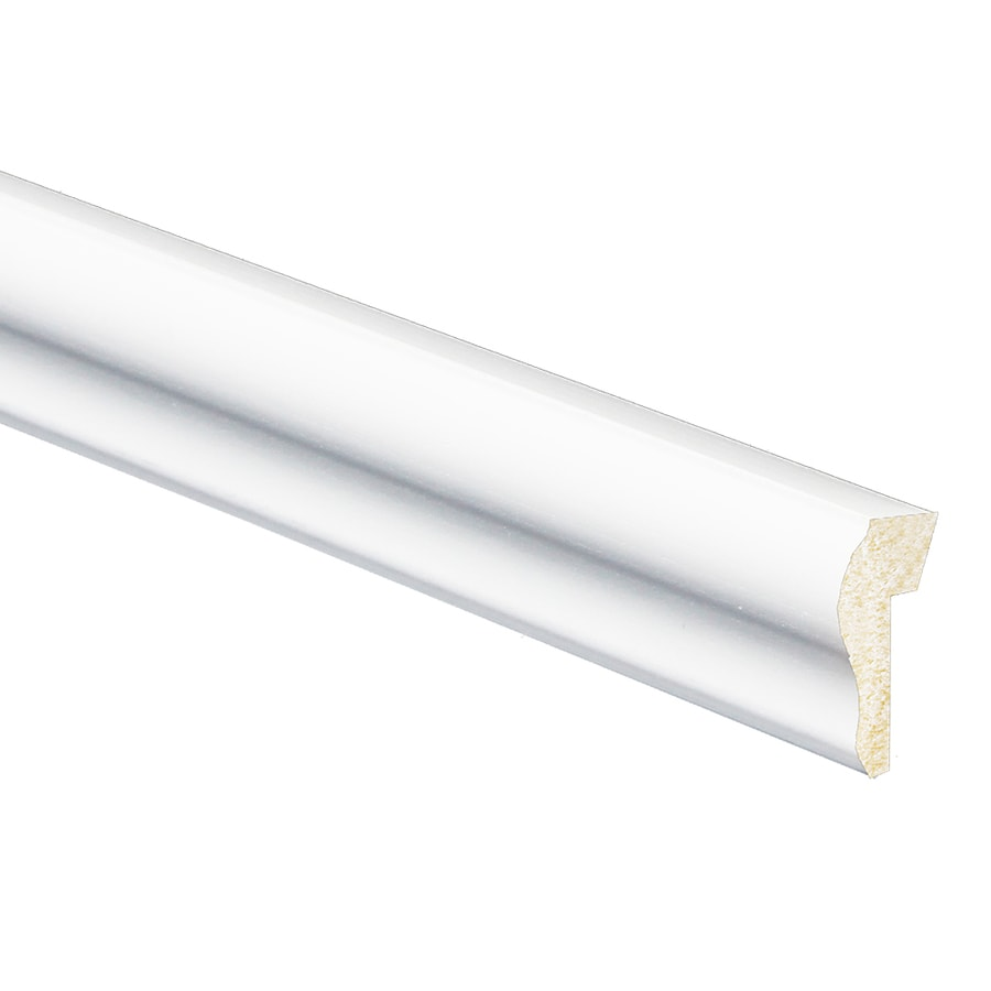 7/16-in x 1-1/8-in x 8-ft White Polystyrene Drip Cap Moulding
