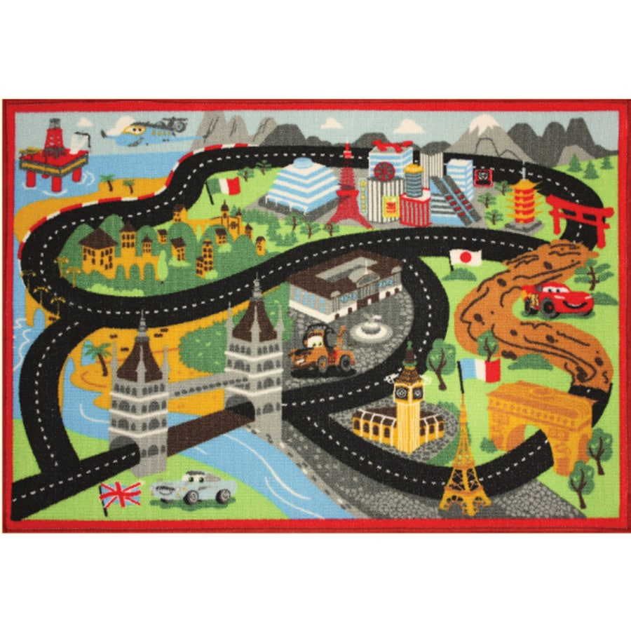 Disney Rectangular Indoor Tufted Throw Rug (Common: 2 x 4; Actual: 31.5-in W x 44-in L)