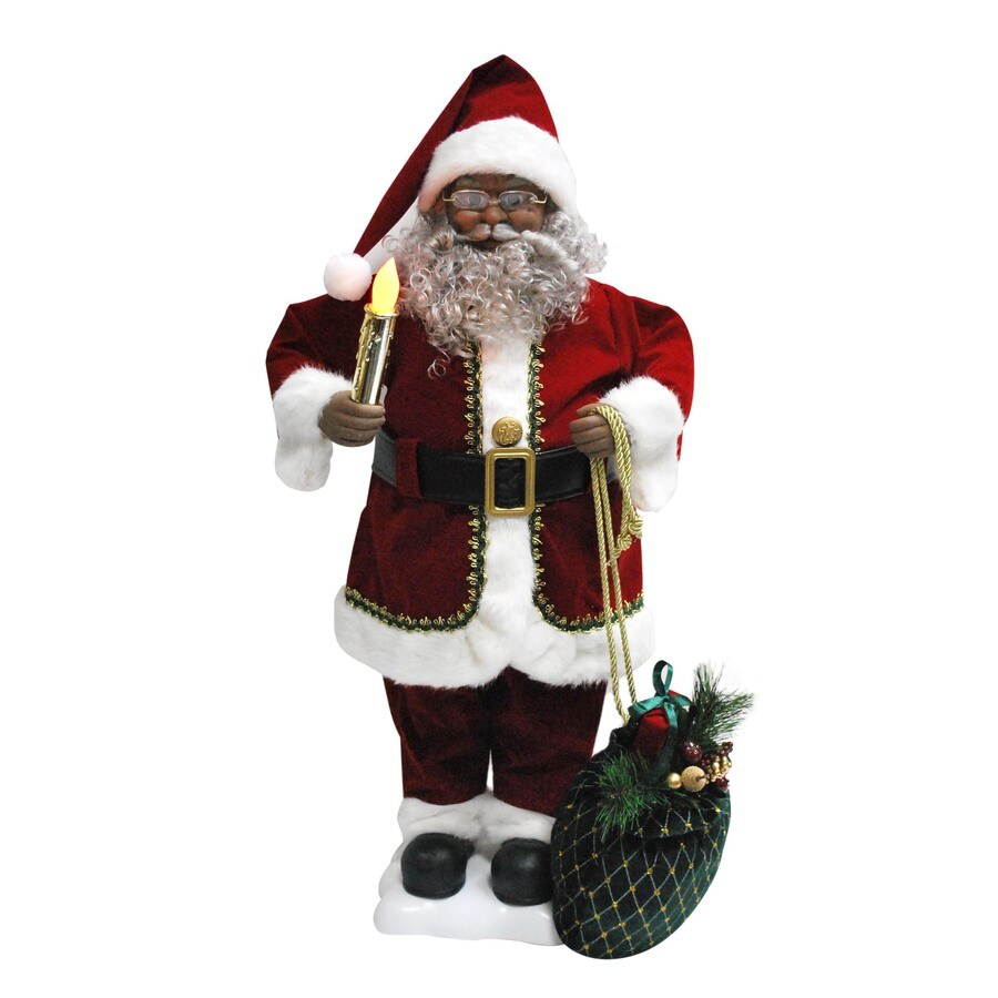 Holiday Living 28-in Christmas Plastic Lighted Musical Santa Claus