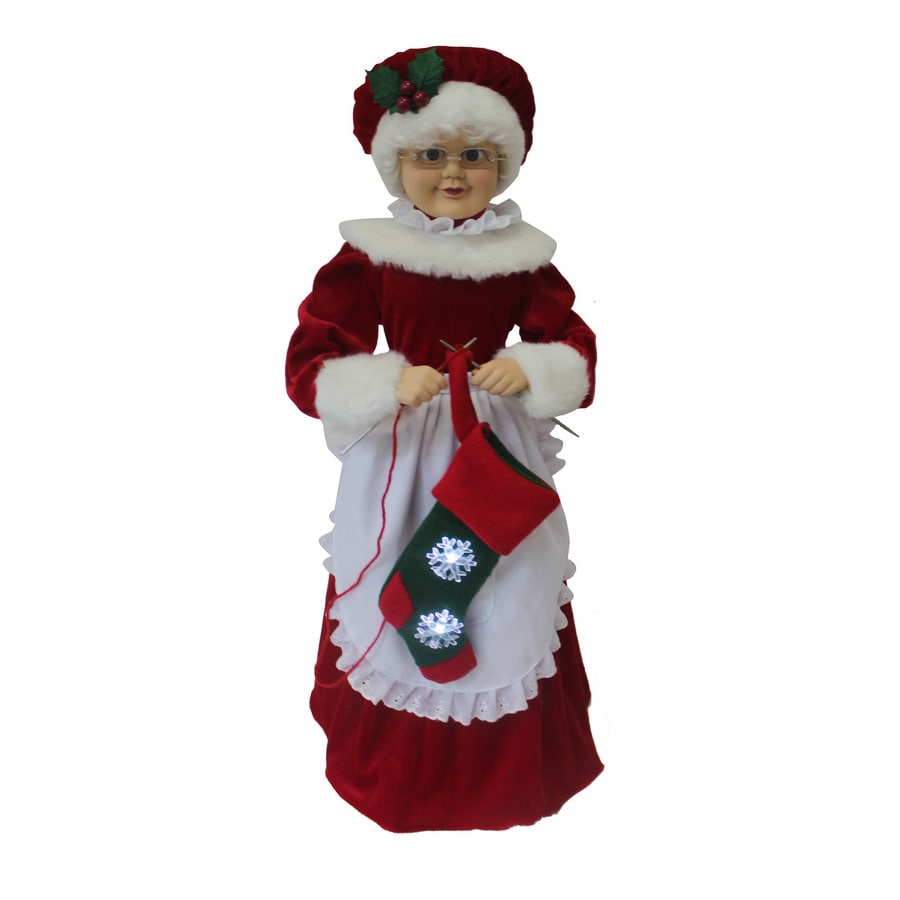Holiday Living Animatronic Pre-Lit Musical Polyester Freestanding Figurine with Constant White LED Lights