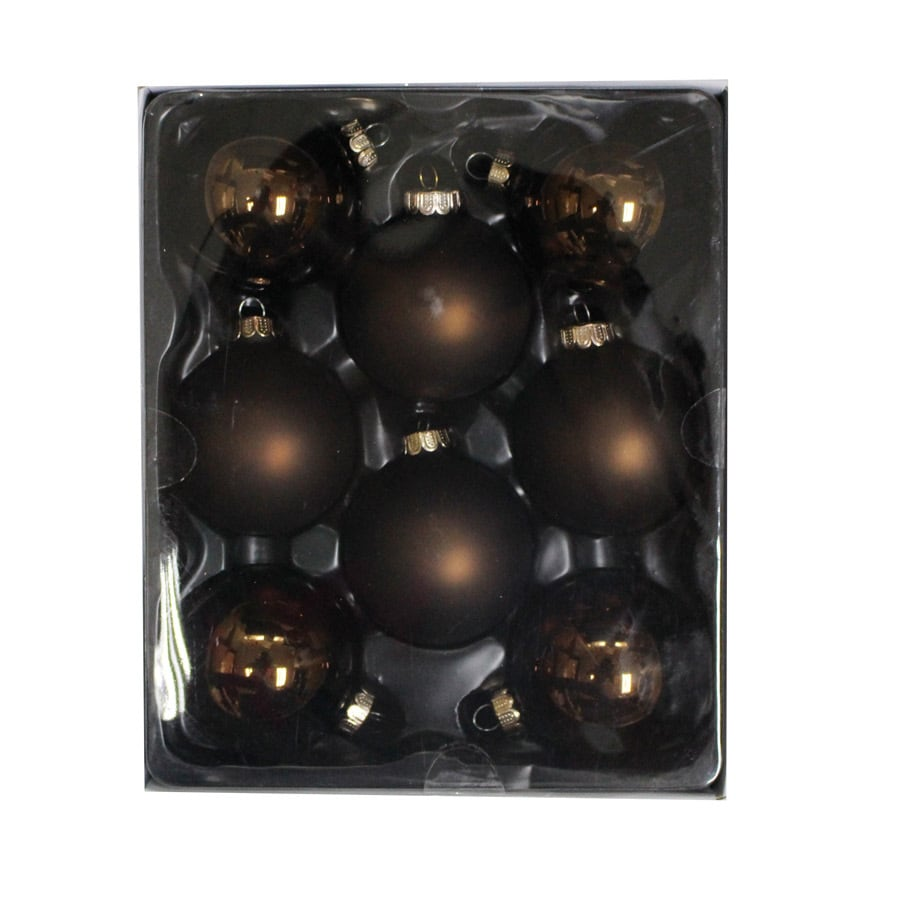 Holiday Living 6-Pack Brown Ball Ornament Set