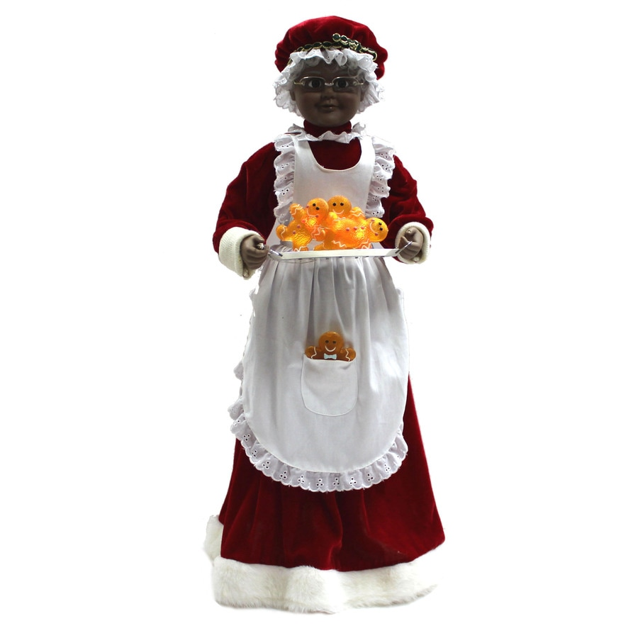 Holiday Living Christmas Polyester Lighted Musical Animated Claus
