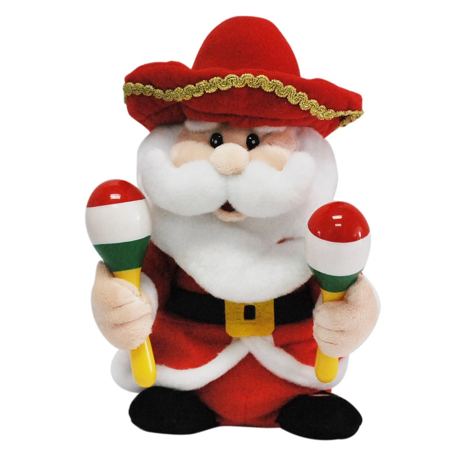 Holiday Living 10-in Christmas Plastic Lighted Musical Santa
