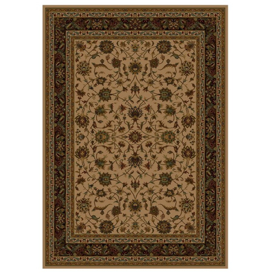 Shaw Living Palace Kashan 6-ft 5-in x 7-ft 7-in Rectangular Beige Transitional Area Rug