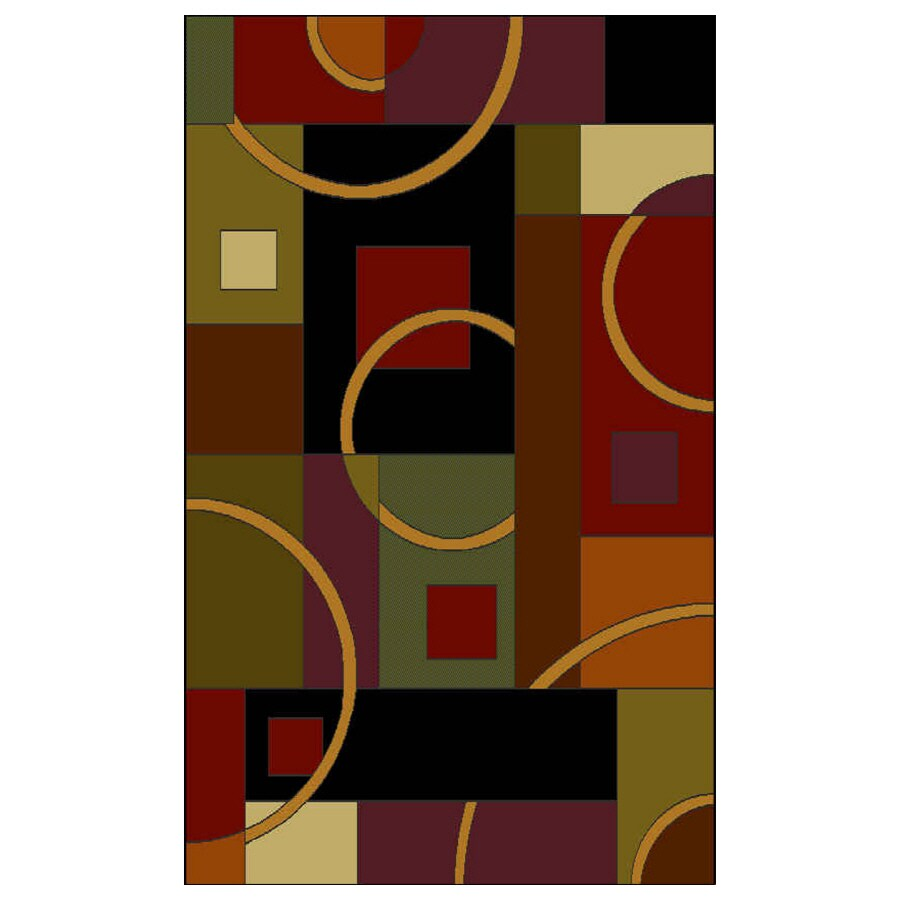 Shaw Living Pulsar 46-in x 5-ft 6-in Rectangular Multicolor Transitional Area Rug