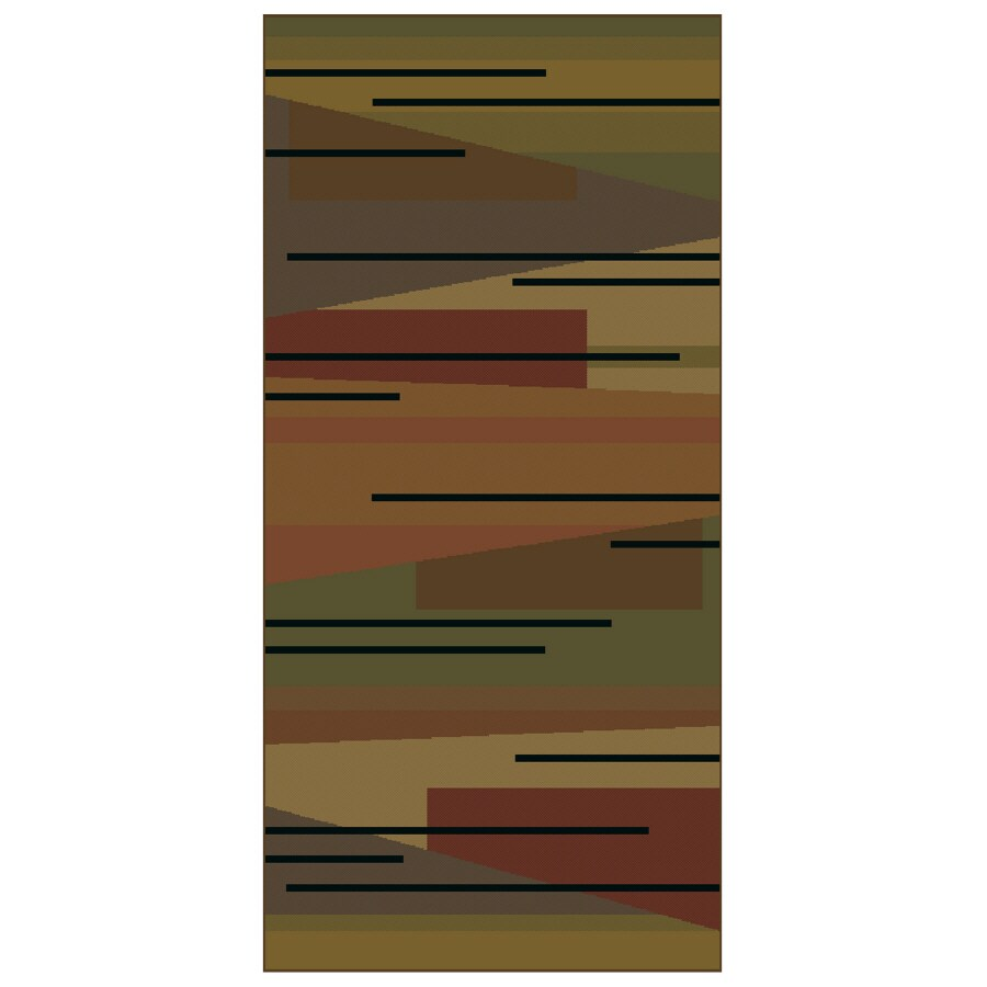 Shaw Living Zesto Stripe Rectangular Indoor Tufted Area Rug (Common: 5 x 8; Actual: 63-in W x 91-in L)