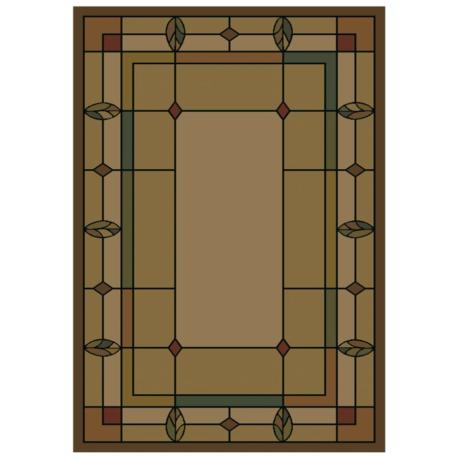 Shaw Living Leaf Point Rectangular Indoor Woven Area Rug (Common: 8 x 11; Actual: 94-in W x 129-in L)