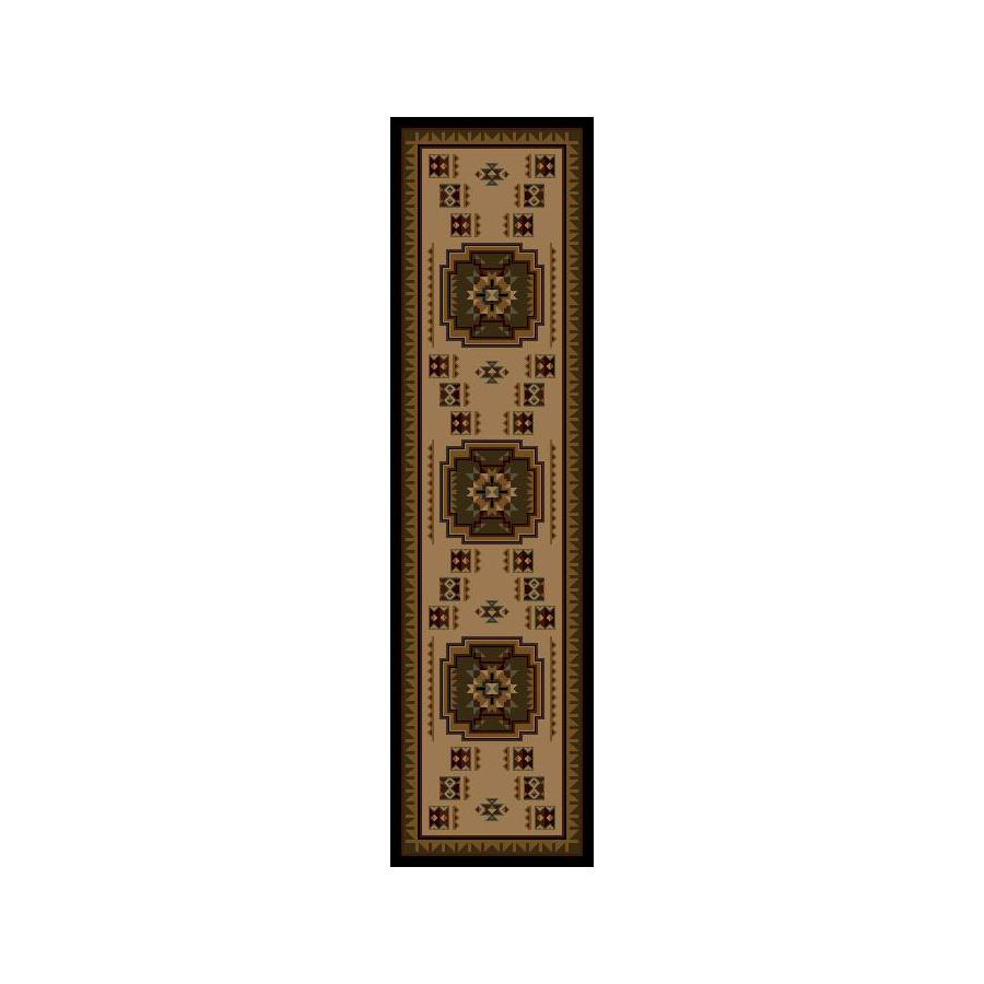 Shaw Living Pueblo Brown Woven Runner (Common: 2-ft x 8-ft; Actual: 1.916-ft x 7.5-ft)