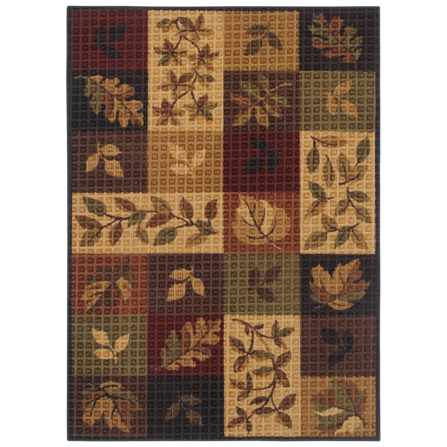 Shaw Living Oakton Rectangular Multicolor Block Tufted Area Rug (Common: 8-ft x 10-ft; Actual: 8-ft x 10-ft)