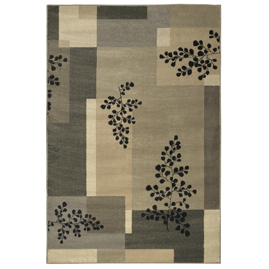 Shaw Living 9-ft 2-in x 12-ft Black Sausalito Area Rug