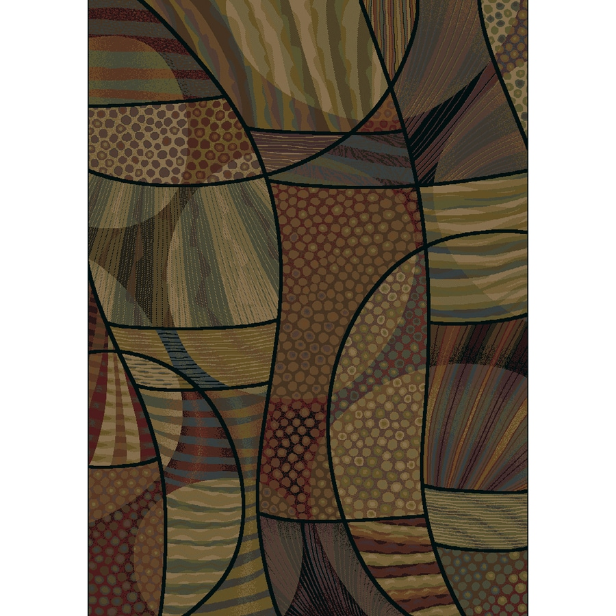 Shaw Living St. Armand 7-ft 7-in x 5-ft 3-in Rectangular Brown Area Rug