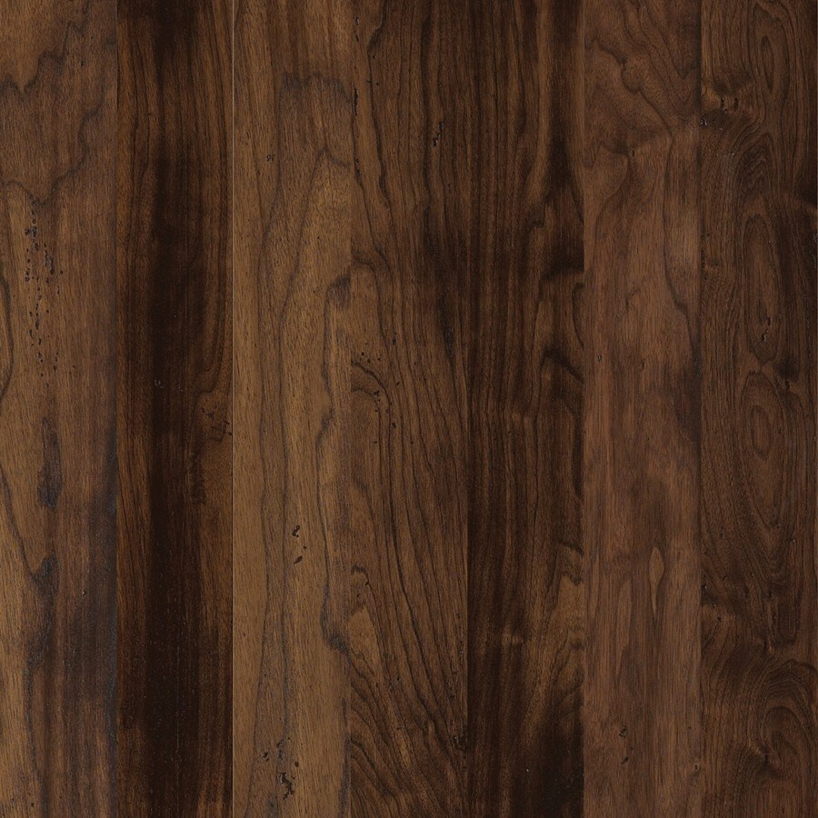 Shaw 4.94-in W Prefinished Walnut Engineered Hardwood Flooring (Cafe Noir)