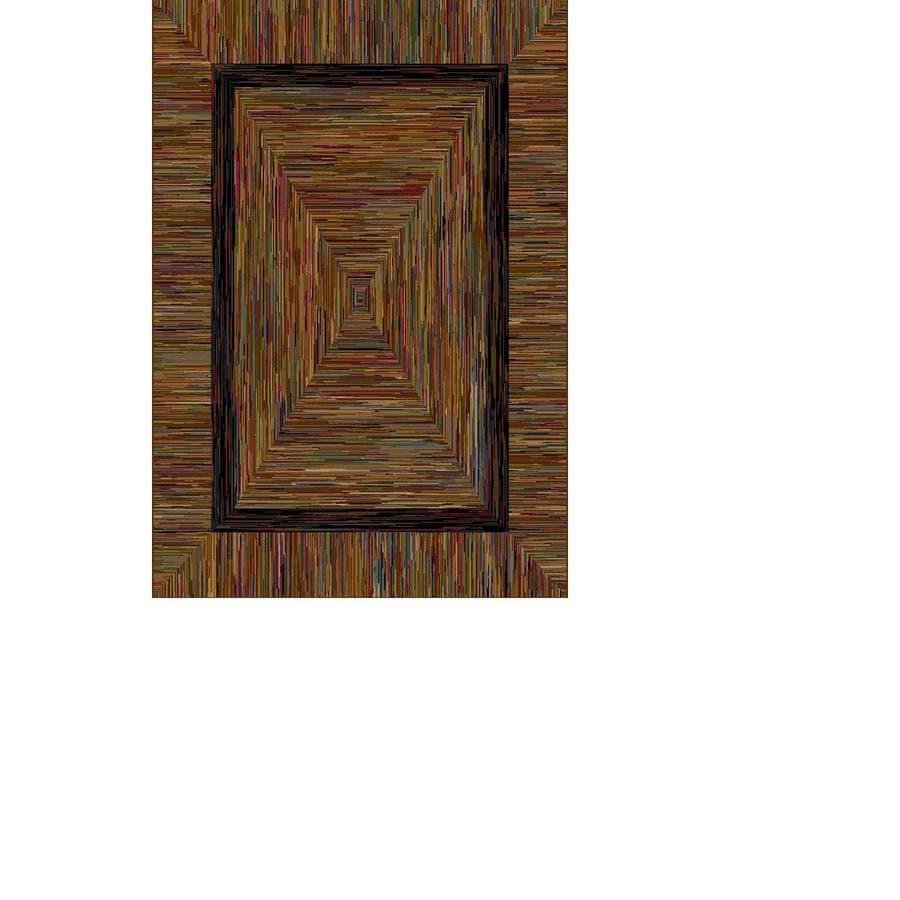 allen + roth Ikat Border Rectangular Indoor Woven Area Rug (Common: 8 x 10; Actual: 92-in W x 130-in L)