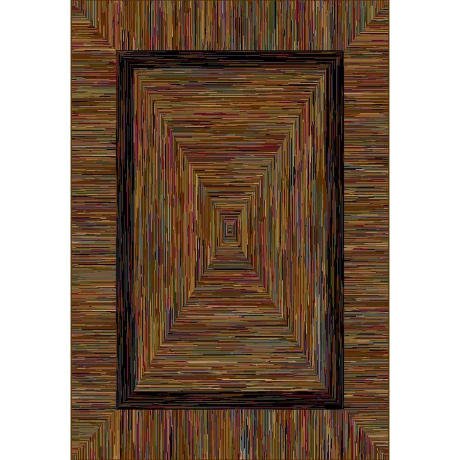 allen + roth Ikat Rectangular Multicolor Border Area Rug (Common: 9-ft x 12-ft; Actual: 9-ft 3-in x 14-ft 7-in)