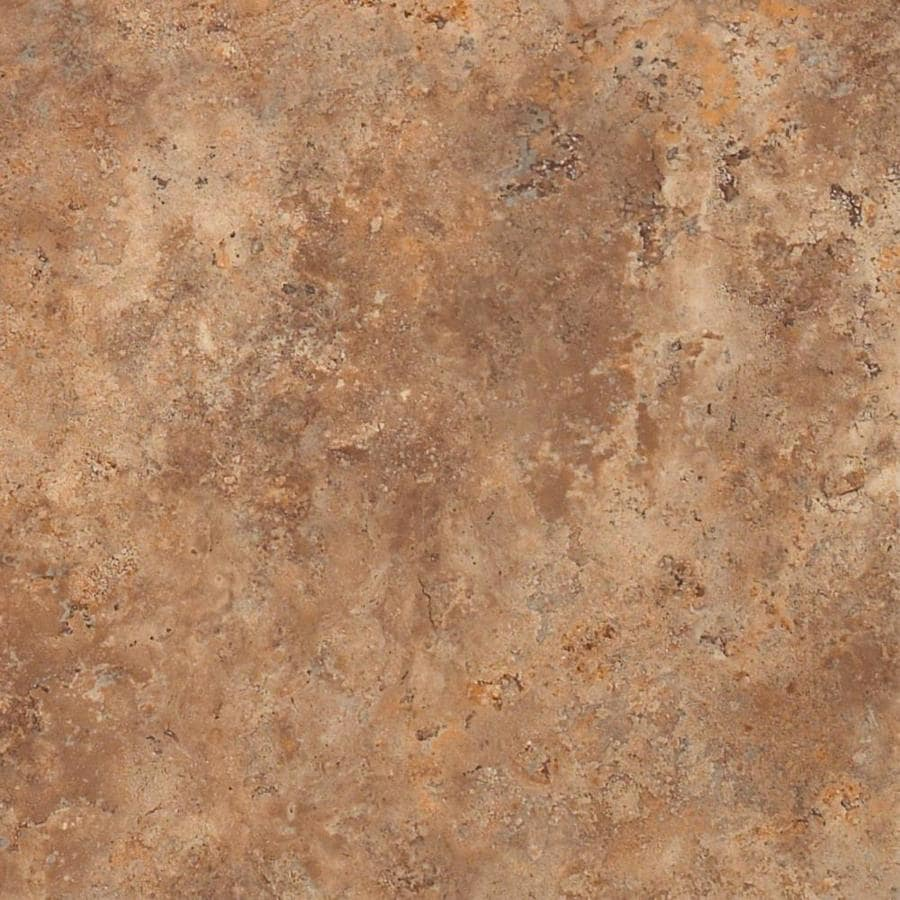Shaw Wyndham 16-Piece 16-in x 16-in Groutable Copper Penny Glue (Adhesive) Travertine Luxury Vinyl Tile