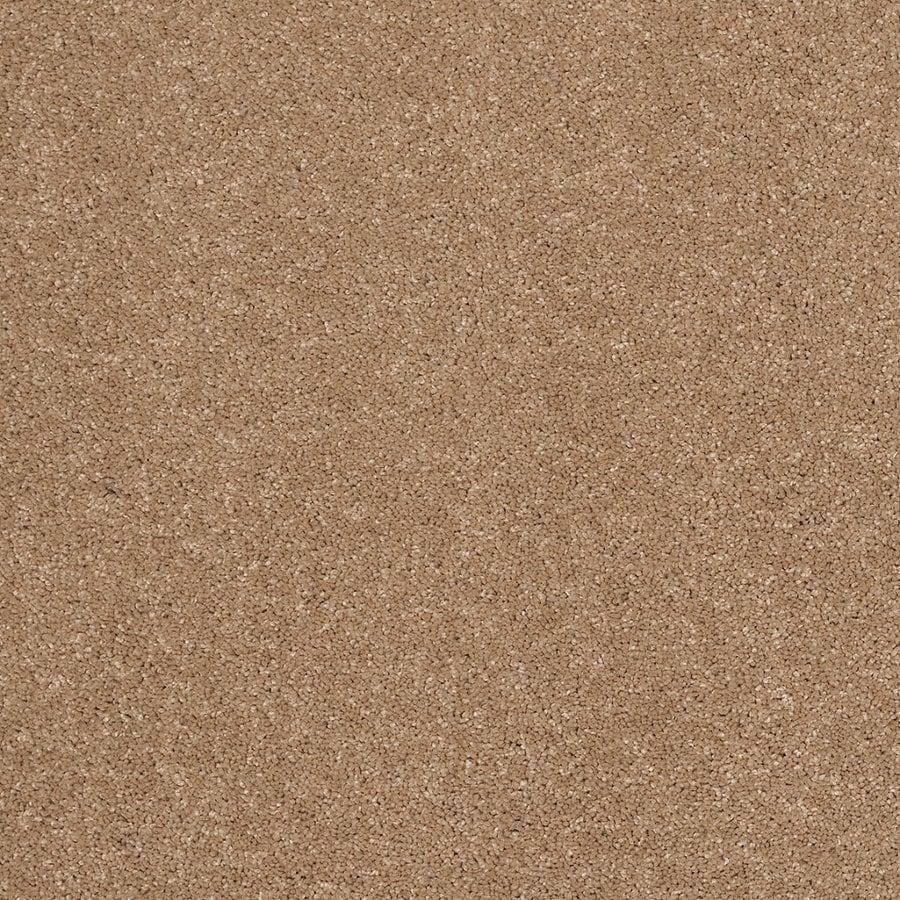 STAINMASTER Trusoft Luscious III Nutmeg Textured Indoor Carpet