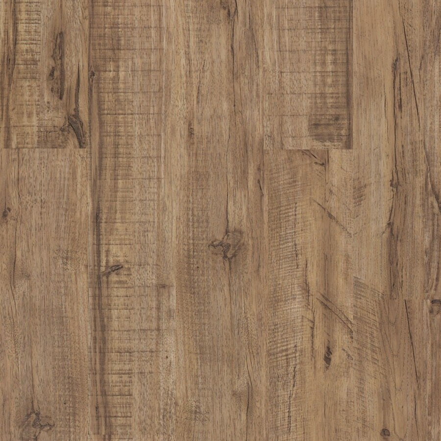 Shaw 6-in W x 48-in L North Hampton Shelton Pecan Floating Vinyl Plank
