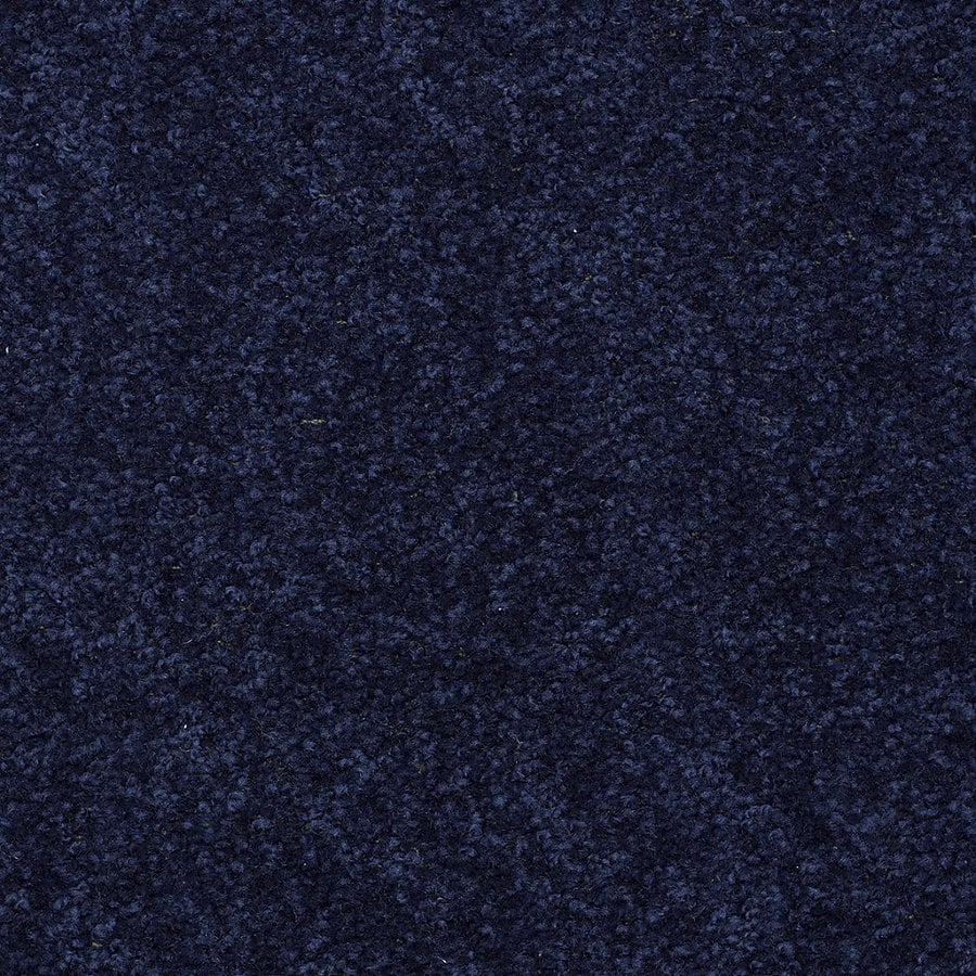 Shop Shaw Stock Carpet Blue Textured Indoor Carpet At