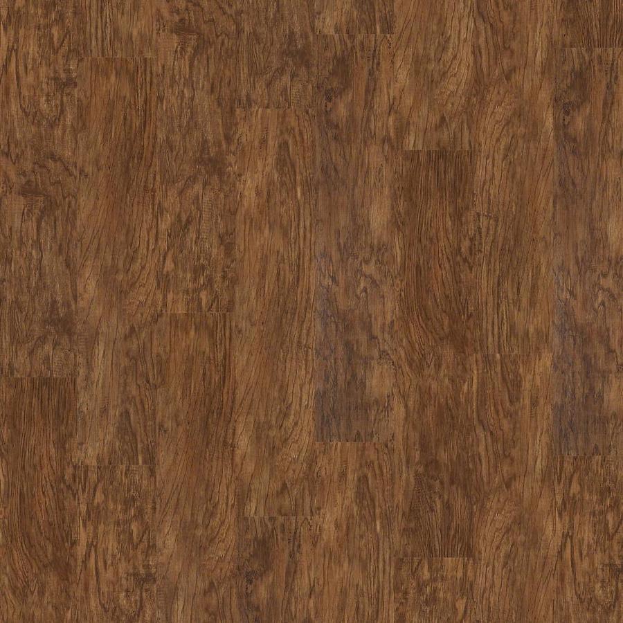 Shaw Triad 15-Piece 7-in x 48-in Tigers Eye Glue Down Hickory Luxury Residential Vinyl Plank