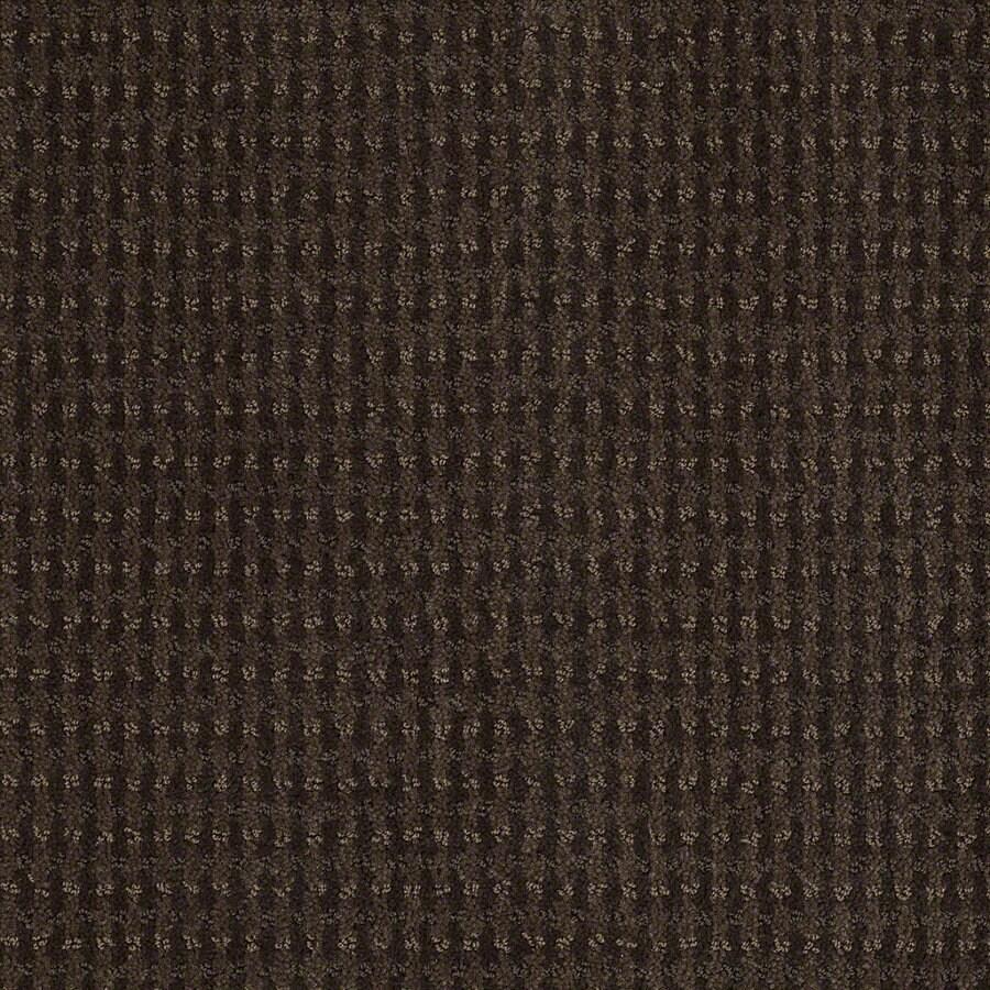 STAINMASTER Active Family St John Dark Earth Berber Indoor Carpet