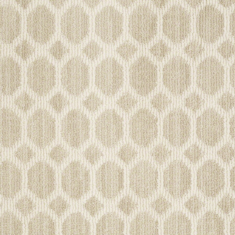 Shaw All The Rage Whisper Rectangular Indoor Tufted Area Rug (Common: 6 x 9; Actual: 72-in W x 108-in L)