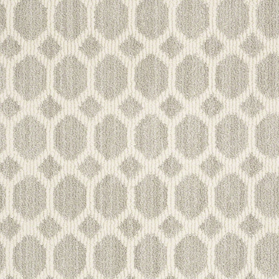 Shaw All The Rage Misty Dawn Rectangular Indoor Tufted Area Rug (Common: 8 x 11; Actual: 96-in W x 132-in L)