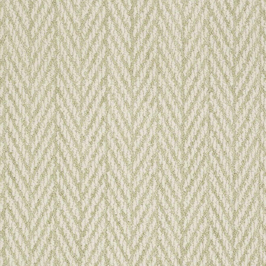 Shaw Apparent Beauty Glen Green Rectangular Indoor Tufted Area Rug (Common: 6 x 9; Actual: 72-in W x 108-in L)
