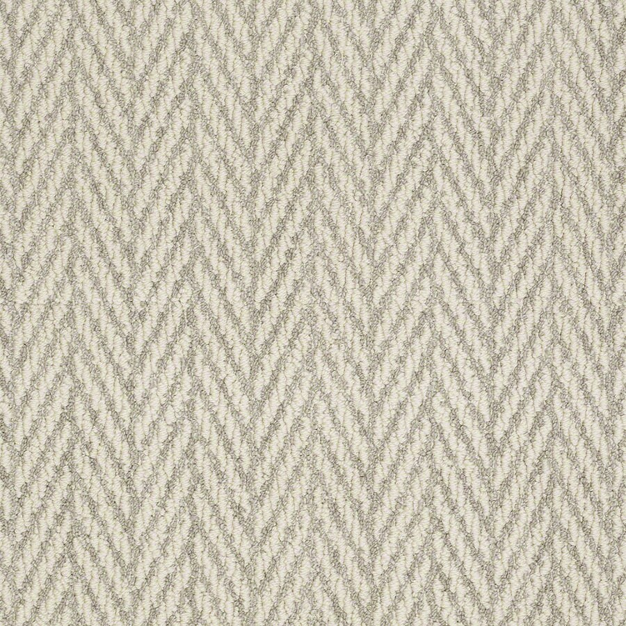 Shaw Apparent Beauty Misty Dawn Rectangular Indoor Tufted Area Rug (Common: 6 x 9; Actual: 72-in W x 108-in L)